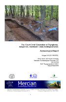 Thynghowe archaeological excavation report Sherwood Forest Nottinghamshire