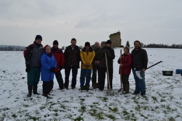 Sherwood Forest Archaeology Snow