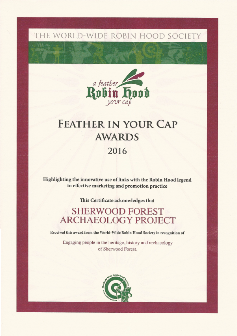 Feather in Your Cap Award Robin Hood Sherwood Forest Archaeology Project Mercian Archaeological Services CIC