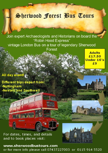 Sherwood Forest Historic Archaeological Bus Tours Robin Hood Express