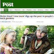 Nottingham Post Robin Hood Sherwood Forest Archaeology