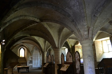 Groin-vaulted Rufford Abbey Undercroft Sherwood Forest