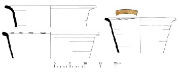 Drawings of Medieval bowls Mercian Archaeological Services CIC Sherwood Forest Archaeology Project